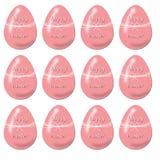 Modelo festivo inconsútil de huevos rosados brillantes Imagenes de archivo