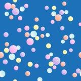 Modelo festivo inconsútil de los grupos multicolores del confeti stock de ilustración
