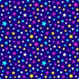 Modelo festivo y brillante de la noche estrellada - fondo para los partidos y la celebración de los niños Ejemplo del vector, mod libre illustration