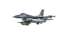 Modelo Fighter Aircraft do F-16 da pequena escala Imagens de Stock