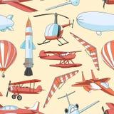 Modelo fijado iconos de la aviación Imágenes de archivo libres de regalías