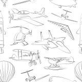 Modelo fijado iconos de la aviación Imagenes de archivo
