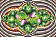 Modelo floral abstracto Bandeja mágica de la fruta ilustración del vector