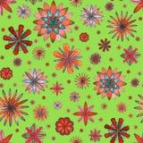 Modelo floral abstracto del boho Imagen de archivo