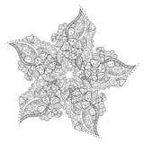 Modelo floral abstracto del fondo del garabato Un ornamento circular ilustración del vector