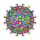Modelo floral abstracto del fondo del garabato Un ornamento circular Fotografía de archivo libre de regalías
