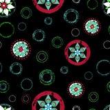 Modelo floral abstracto inconsútil del fondo, con los círculos, strok libre illustration