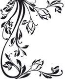 Modelo floral adornado aislado en blanco Fotografía de archivo libre de regalías