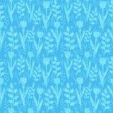 Modelo floral azul libre illustration