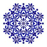 Modelo floral azul de la mandala libre illustration