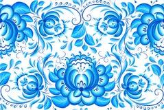 Modelo floral azul y blanco adornado del vector libre illustration