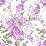 Modelo floral con las rosas ilustración del vector