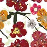 Modelo floral de la elegancia Fotos de archivo libres de regalías