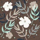 Modelo floral de la impresión de la repetición de la arpillera hermosa en vector libre illustration