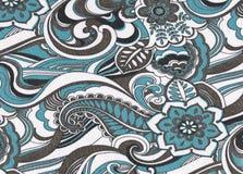 Modelo floral de la materia textil. Fotos de archivo
