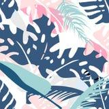 Modelo floral de la palma stock de ilustración