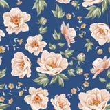 Modelo floral de la teja stock de ilustración
