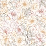 Modelo floral de la teja Fondo de la flor Textura del jardín fotos de archivo
