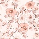 Modelo floral de la vendimia Fotografía de archivo libre de regalías