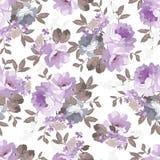 Modelo floral de la vendimia inconsútil Fotografía de archivo