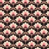 Modelo floral de la vendimia inconsútil ilustración del vector