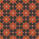 Modelo floral de la vendimia inconsútil del vector Foto de archivo libre de regalías