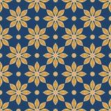 Modelo floral de la vendimia inconsútil del vector Imagen de archivo libre de regalías