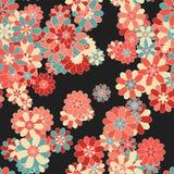 Modelo floral de la vendimia inconsútil del vector Fotografía de archivo