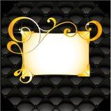 Modelo floral de oro Imagenes de archivo