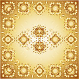 Modelo floral de oro Foto de archivo