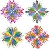 Modelo floral del art déco Fotografía de archivo libre de regalías