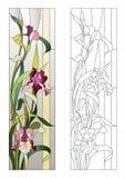 Modelo floral del cristal de colores Fotos de archivo libres de regalías
