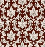Modelo floral del damasco Fotografía de archivo