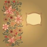 Modelo floral del diseño de tarjeta Imagen de archivo libre de regalías