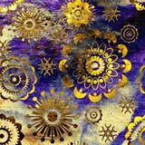 Modelo floral del fondo del grunge del arte Fotografía de archivo libre de regalías