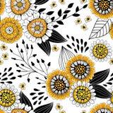 Modelo floral del garabato stock de ilustración