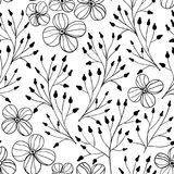 Modelo floral del garabato ilustración del vector