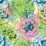 Modelo floral del vector Foto de archivo libre de regalías