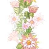 Modelo floral del vector inconsútil ilustración del vector