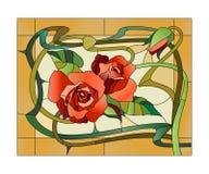 Modelo floral del vitral Fotografía de archivo libre de regalías