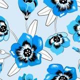 Modelo floral elegante inconsútil de la campanilla ilustración del vector