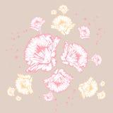 Modelo floral en colores en colores pastel Fotos de archivo libres de regalías