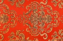 Modelo floral en la tela Fotos de archivo