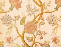 Modelo floral en papel pintado Foto de archivo libre de regalías