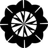 Modelo floral geométrico geométrico de la mandala del extracto blanco y negro del vector para el botón y la broche etc libre illustration