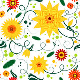 Modelo floral inconsútil Fotos de archivo