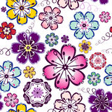 Modelo floral inconsútil Fotografía de archivo libre de regalías