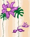 Modelo floral inconsútil con el pájaro Foto de archivo libre de regalías