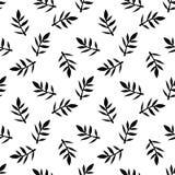 Modelo floral inconsútil con las hojas stock de ilustración