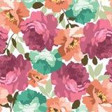 Modelo floral inconsútil con las rosas Fotografía de archivo libre de regalías